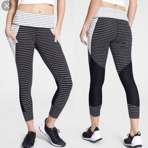 Athletes Striped Relay Capris